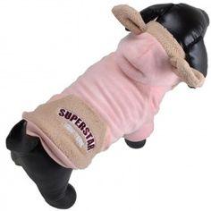 Adrette Hundejacke im lachsfarbenen Teddy Look. Der Hundemantel hat eine süße Kapuze mit Bärenohren und ist sehr warm mit Lammfellimitat gefüttert. Die warme Hundebekleidung, empfohlen von GogiPet ® ist jetzt bei Onlinezoo extra günstig Superstar, Gloves, Fashion, Fashion Styles, Salmon, Cowl, Jackets, Moda, Mittens