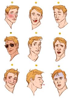 illustratedkate: steve + emoji expressions! good ref for expressions.