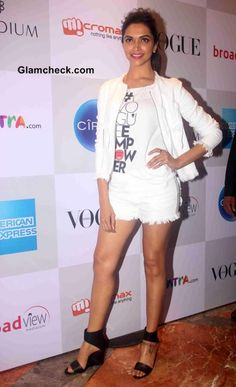 Deepika Padukone at the Vogue Fashion Night Out 2014