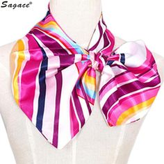 3.17$  Watch now - Trendy 12 Colors Fashion Print Square Scarf Women Office Lady Career New Kerchief Head Wrap Neck Shawl Stewardess Scarves Aug30   #buyininternet