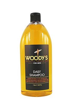 Woodys Quality Grooming Daily Shampoo 32 oz -- You can find more details by visiting the image link. Oily Hair, Male Grooming, Hair Oil, Shampoo And Conditioner, Amino Acids, Vitamin E, Up Hairstyles, Whiskey Bottle, Hair Care