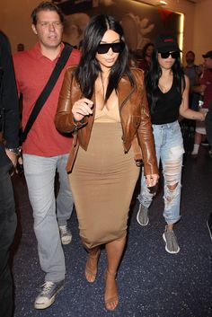 Kim Kardashian arrives at LAX airport in Los Angeles on Aug. 3, 2015.   - Cosmopolitan.com