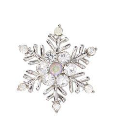Look at this #zulilyfind! Silvertone Snowflake Brooch #zulilyfinds