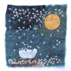 Adventures with fiber and life Sashiko Embroidery, Cross Stitch Embroidery, Hand Embroidery, Small Quilts, Mini Quilts, Boro, Sewing Art, Sewing Crafts, Fabric Art