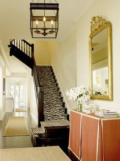 Eh--original post came from story about table skirts. It's ok, but I love the rug runner/carpet up the stairs and the lamp for sure!