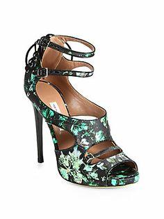 Tabitha+Simmons Bailey+Ivy-Print+Satin+Sandals