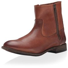7dfee59a5 Amazon.com | FRYE Women's Ethan Double Zip, Whiskey, 6 M US | Ankle & Bootie