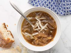 French Onion Soup recipe from Ina Garten via Food Network *all beef broth, 1/4 cup brandy, 1/2 cup port