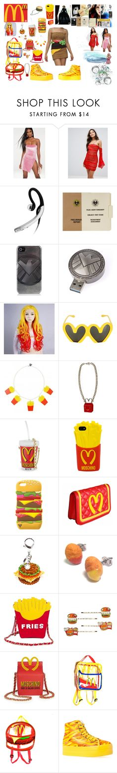 """Random Stuff"" by tfryer ❤ liked on Polyvore featuring Love Triangle, Quiksilver, Marvel, Jabra, Vanity Fair, CO, Moschino, Junk Food Clothing, House of Holland and Nila Anthony"