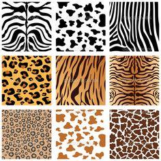 Шкуры животных - Векторная картинка: 6503886
