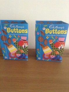 Vintage Cadbury's Buttons Easter Egg boxes ,probably 1960's