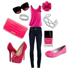 Pretty in Pink, created by jenniholland on Polyvore