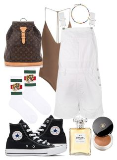 """""""Untitled #914"""" by veronice-lopez on Polyvore featuring Jade Swim, Converse, Topshop, Gucci, Louis Vuitton and Chanel"""