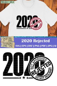 2020 Rejected SVG cuttable quote. Compatible with cutting machines like Silhouette, Cricut, SCAL etc. as well as vinyl cutters and laser cutters. Ideas for using our designs: • Vinyl decals for mugs, acrylic blanks, tumblers, glasses, walls, cars etc. • HTV decals for T-shirts, pillows, tote bags, garden flags, towels, etc. • Vinyl stencils for wood signs, canvas art, etc. • Cutouts for card making, paper crafts, scrapbooking etc. Sarcastic Quotes, Funny Quotes, Life Quotes, Rejected Quotes, Stencils For Wood Signs, Cutting Tables, Silhouette Studio Designer Edition, How To Make Tshirts, Vinyl Cutter