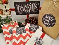 Free printable Christmas labels for your home baked goods.