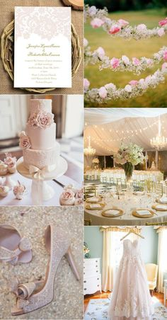 romantic blush pink lace rustic wedding ideas