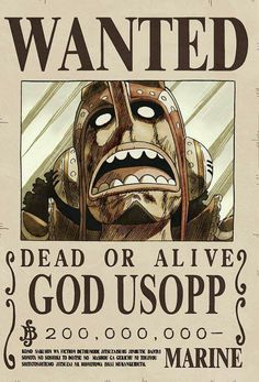 Wanted God Usopp