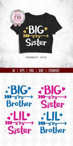 | Hermano, hermana, hermano, hermana pequeña archivos de corte | descarga digital ____________________________________________________________________________ Descarga digital instantánea: X 4 archivos SVG compatibles con la máquina de corte más X 4 archivos DXF X 4 archivos de Studio3 para camafeo de silueta X 4 archivo AI X 4 archivos EPS Por favor revise el software que utiliza es compatible con encima de archivos antes de la compra. Ningún producto físico será enviado. No se…