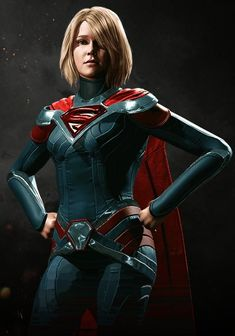Injustice 2 Supergirl - Visit to grab an amazing super hero shirt now on sale! Heros Comics, Dc Comics Girls, Dc Comics Art, Dc Heroes, Marvel Dc Comics, Marvel Vs, Injustice 2 Supergirl, Dc Injustice, Dc Batgirl
