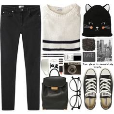 Casual. by jellytime on Polyvore featuring Steven Alan, Acne Studios, Converse, Alexander Wang, River Island, INDIE HAIR, H&M, Topshop, Chanel and LØMO