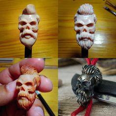 More on the GATURA.etsy.com Worldwide shipping! #sculpting #clay #modeling #prototype #beads #waxmodel #handcrafted #wax #supersculpey #sculpture #waxcarving #polimerclay #paracordbead #lanyardbeads #bigbeads #paracordaccessories #edc #knifebead #customknives #custombeads #gatura #beardskull #beard #hipster #hipsterhair #hipsterboy