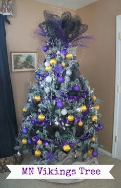 MN Vikings Tree - a bit extreme but festive!
