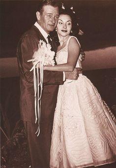 John Wayne & 3rd wife Pilar Palette (married 1954-1979 till his death, 3 children)