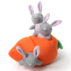 This interactive bunny and carrot burrow toy is adorable and a great thinking game for your dog. Designer Dog Collars, Dog Feeder, Dog Friends, Dog Bed, Dog Toys, Carrot, Holiday Fun, Pet Supplies, Your Dog