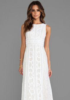 BCBGMAXAZRIA Kelley Dress in White