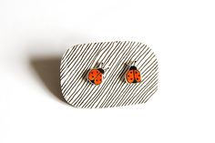 Hey, I found this really awesome Etsy listing at https://www.etsy.com/listing/119213153/ladybug-ladybird-earring-shrink-plastic