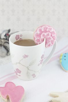 "Hanging Mug Sugar Cookies using ""Hooked On You"" cutters by Jamie Oliver"