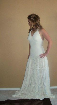 Eco-Friendly Hand Crochet Bamboo Wedding Dress. $1,500.00, via Etsy.