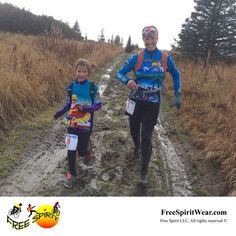 """""""Big Dreams come in small packages..✨""""...8 year old Frida was determined to run the tough, muddy, uphill half marathon in Homer, Alaska. So her Mom and friend Kathy (owner of Free Spirit Wear) ran with her – all the way to the finish (under 4 hours!), through rain, mud, and giant slippery puddles.        http://freespiritwear.com/blog/?p=1638"""
