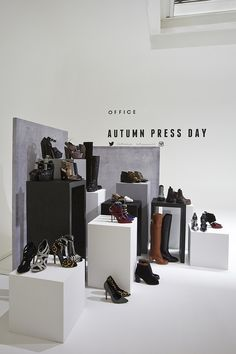 Office AW14 Press Day // Bespoke Plinths and Backdrop Display made by Seen Displays
