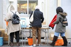 the Japanese language even captures this helpless sense of regret concerning waste in a single word — mottainai. Left: People pack food distributed by Second Harvest Japan in bags before carrying them home. Food And Thought, Japanese Language, Food Waste, Mindful, Canada Goose Jackets, Harvest, Winter Jackets, Thoughts, Lifestyle