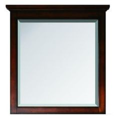 Tropica 31 in. x 32 in. Mirror in Weathered Brown-TROPICA-M30-AB at The Home Depot