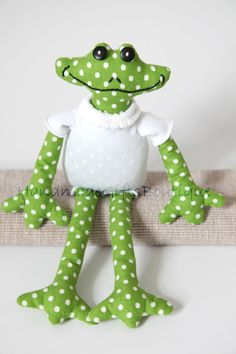 Gorgeous Frog Fabric Toy by HandmadeGiftBoutique on Etsy, $24.00