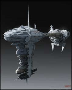 Mark Molnar - Sketchblog of Concept Art and Illustration Works: Star Wars - Nebulon B Frigate