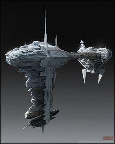 Mark Molnar - Sketchblog of Concept Art and Illustration Works: Star Wars - Nebulon B Frigate