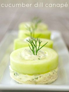 Appetizers Recipes This Cucumber Dill Canapé is one of my favorite cucumber hors d'oeuvres of … Cold Party Appetizers, Snacks Für Party, Holiday Appetizers, Holiday Parties, Party Canapes, Wedding Appetizers, Cocktail Parties, New Years Appetizers, Cocktails