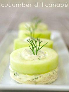 Cucumber dill canapé recipe - cookingontheweekends.com !