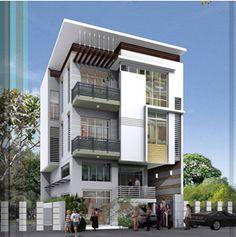 THIẾT KẾ NHÀ PHỐ KINH DOANH Trên thị trường hiện nay, có nhiều mẫu thiết kế nhà phố kết hợp kinh doanh rất đẹp. Tuy nhiên, còn tùy vào mặt hàng kinh doanh của công ty mà chọn kiểu thiết kế nhà phố kinh doanh cho phù hợp. Với chi tiết mái bằng được kết hợp hài hòa trong sắc trắng sang trọng và hệ thống cây xanh được bố trí khắp không gian, tất cả góp phần tô điểm cho vẻ đẹp của ngôi nhà thêm tinh tế. Best Modern House Design, Classic House Design, Duplex House Design, Building Elevation, House Elevation, Indian House Exterior Design, Morden House, Best Tiny House, Villa Design