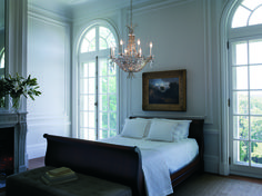 Looking to refresh your look? 💡How about adding a stylish chandelier to your bedroom? Featuring Schonbek's Amytis collection, this eight light pendants adds mesmerizing flair to any room. Reflecting off the Swarovski Crystals and antique silver finish, a gentle glow creates an inviting and peaceful atmosphere.