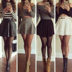 S skirts in 2019 fashion outfits, skirt outfits, skater skirt Komplette Outfits, Fall Outfits, Casual Outfits, Summer Outfits, Fashion Outfits, Dress Fashion, Fashion Tights, Fashion Hacks, Fashion Blogs