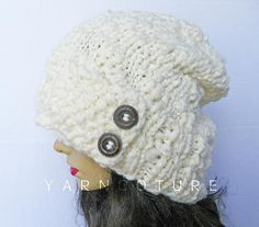 The SAHLAN Hat  Thick Slouchy Hat  Fall Winter by yarncoture, $48.00