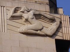 Art Deco Sculpture - Female by The Green Odyssey, via Flickr