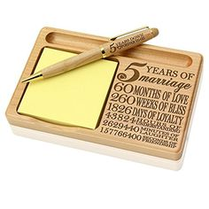 Discover the best wooden anniversary gifts ideas for your fifth year wedding anniversary today. Even if you don't know what to get for your husband or wife
