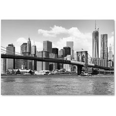 Trademark Fine Art View of Manhattan Canvas Art by Philippe Hugonnard, Size: 16 x 24, Black