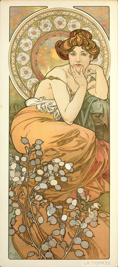 Alphonse Mucha - The Precious Stones, Topaz