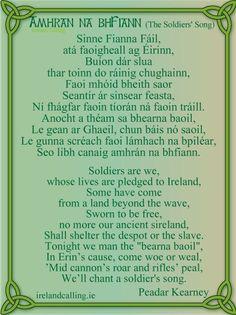 Peadar Kearney wrote the lyrics to The Soldier's Song, the Irish National Anthem. Irish Gaelic Language, Gaelic Words, Cool Stuff, Irish National Anthem, Irish Nationalism, Soldier Songs, Irish Toasts, Irish Images, Irish Songs